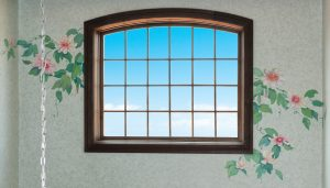 hand painted decolage around existing window a fantastic design idea