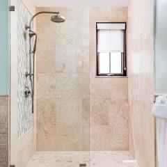 spacious easy care shower
